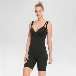 NEW SPANX Shaping Open Bust Bodysuit Women's 1XL